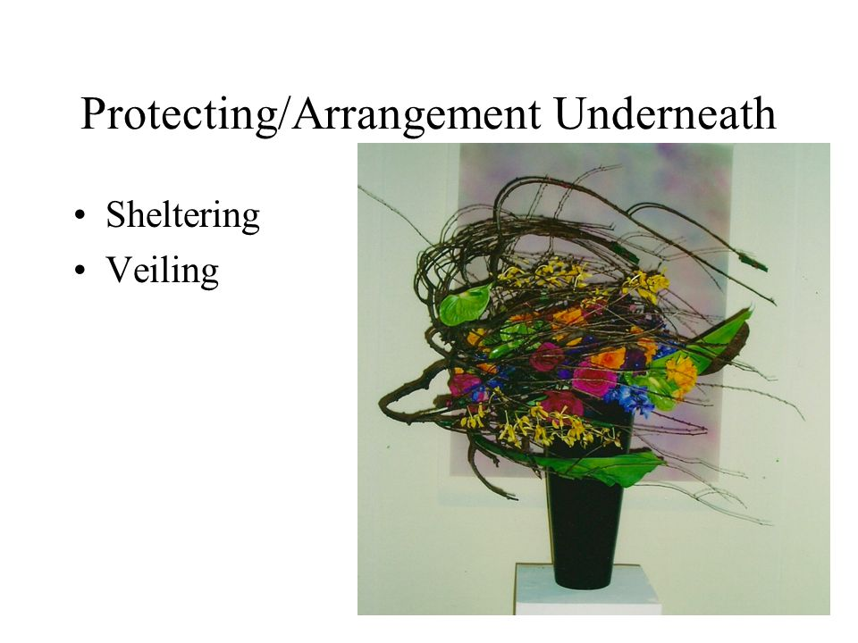 Protecting/Arrangement Underneath