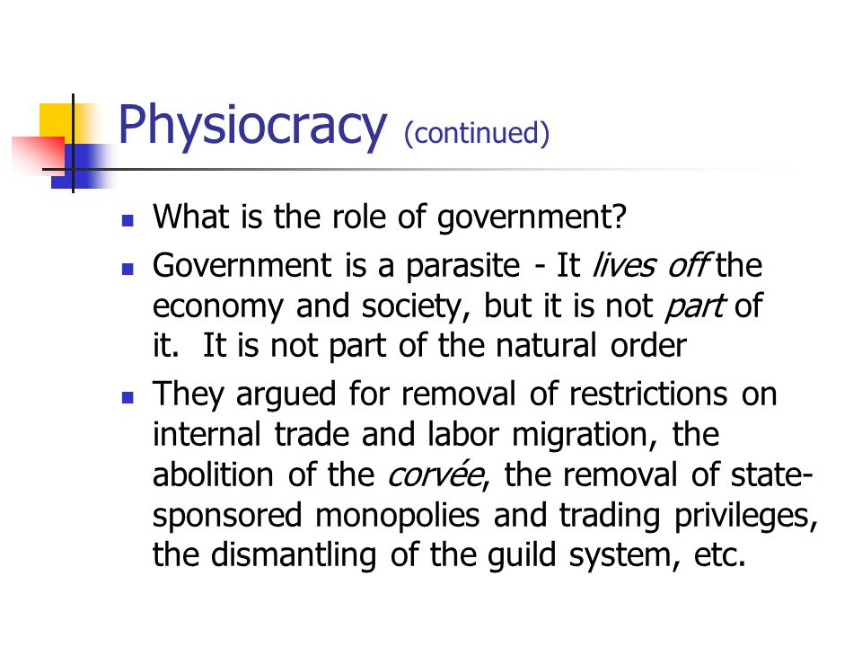 physiocracy mercantilism Money and exchange in the modern constitution this paper provides an interpretation of the classical conception of money as a neutral instrument for pure market exchanges, based on the concept of constitution as proposed by bruno latour in nous n'avons jamais été modernes.