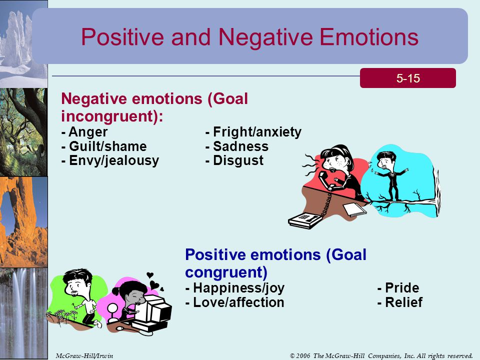 Positive and Negative Emotions