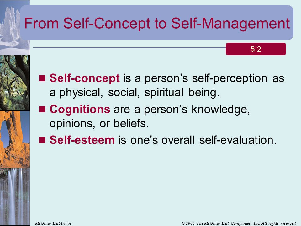 From Self-Concept to Self-Management