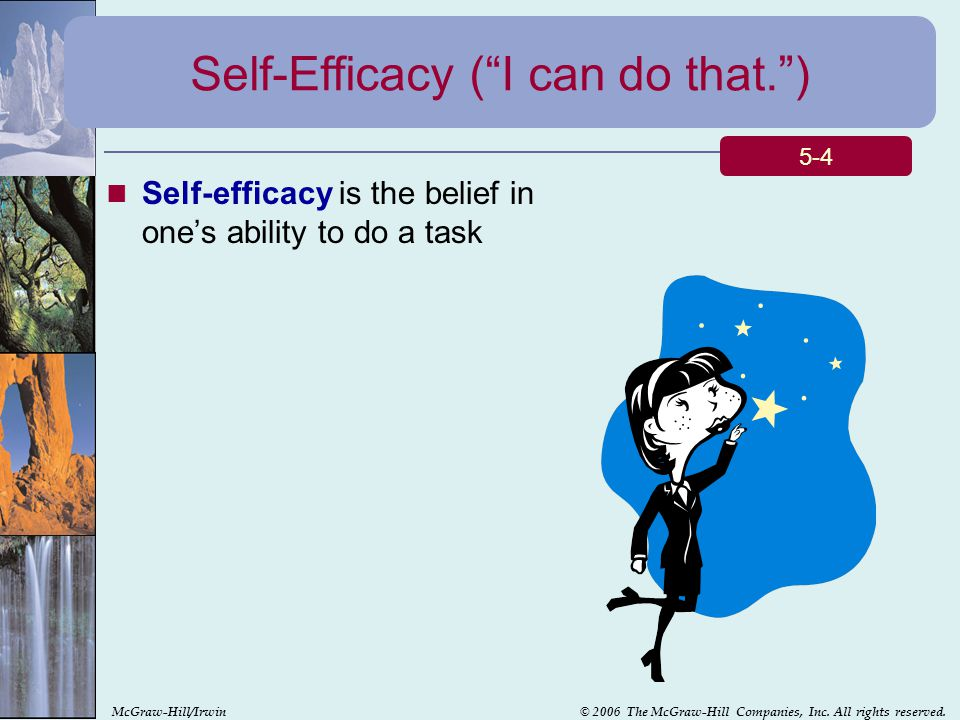 Self-Efficacy ( I can do that. )
