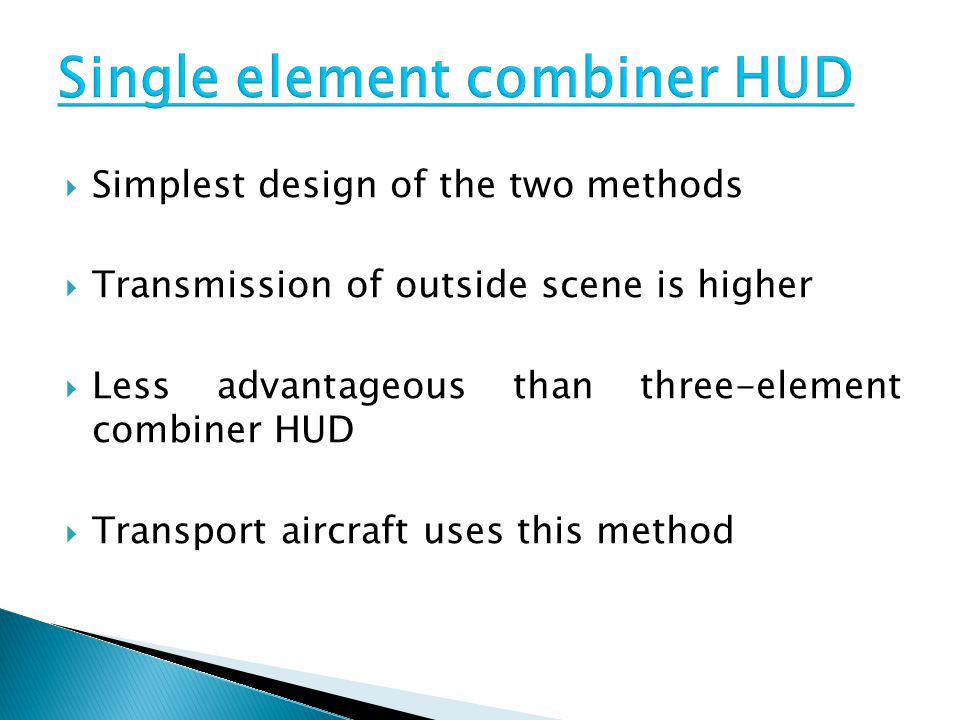 Single element combiner HUD