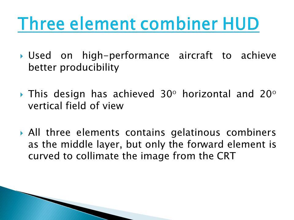 Three element combiner HUD