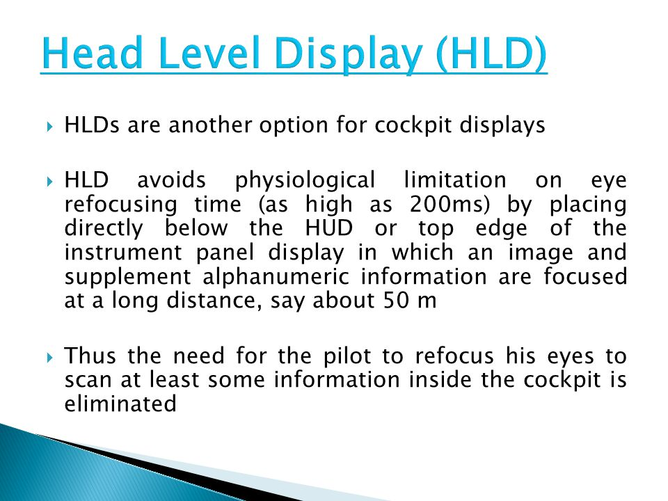 Head Level Display (HLD)