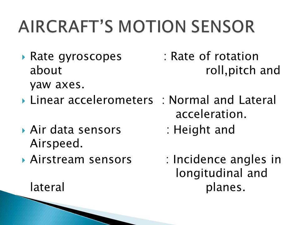 AIRCRAFT'S MOTION SENSOR