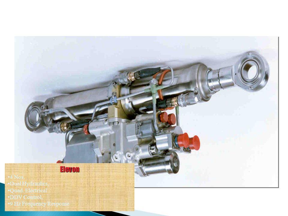 Elevon 4 Nos. Dual Hydraulics, Quad. Electrical DDV Control,