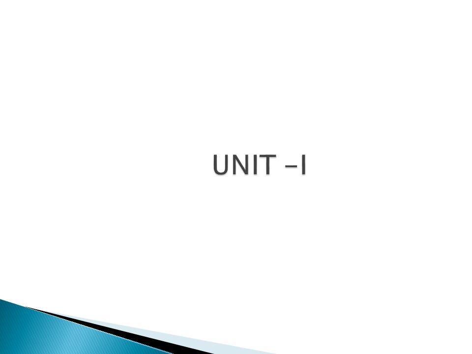UNIT -I