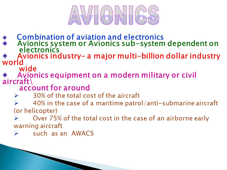 AVIONICS Avionics system or Avionics sub-system dependent on