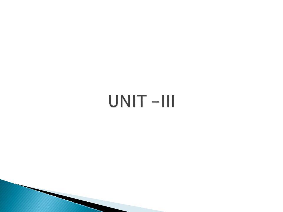 UNIT -III