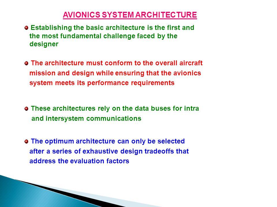 AVIONICS SYSTEM ARCHITECTURE