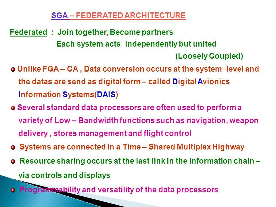 SGA – FEDERATED ARCHITECTURE