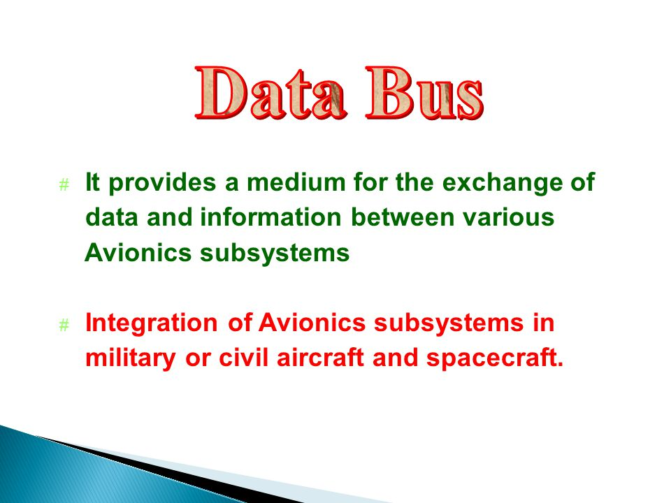 Data Bus It provides a medium for the exchange of