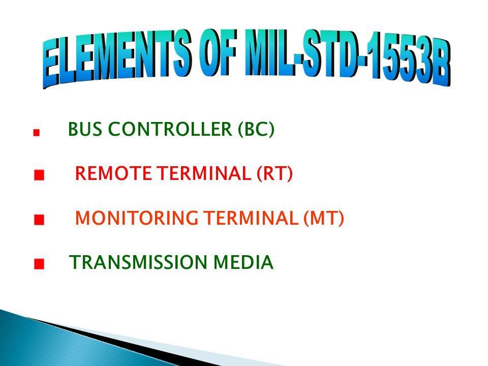 ELEMENTS OF MIL-STD-1553B REMOTE TERMINAL (RT)