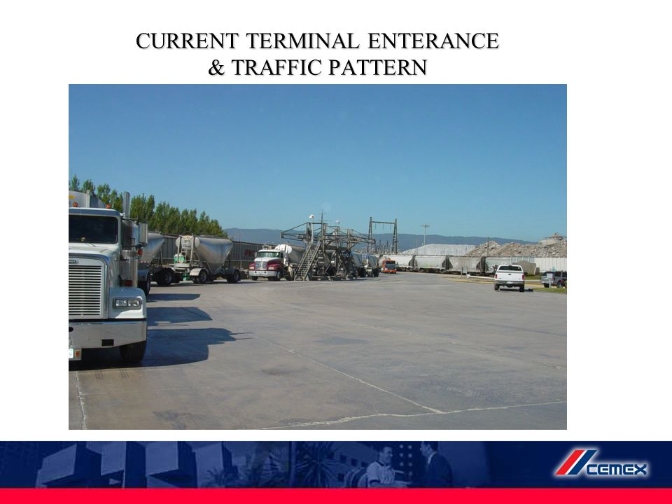 CURRENT TERMINAL ENTERANCE & TRAFFIC PATTERN