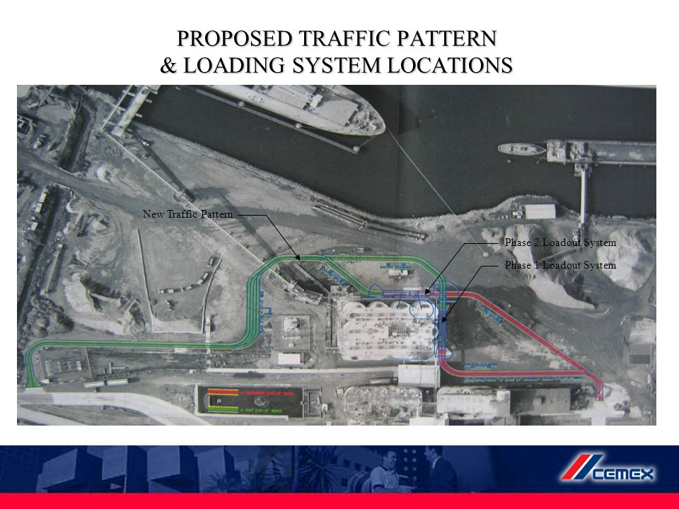 PROPOSED TRAFFIC PATTERN & LOADING SYSTEM LOCATIONS