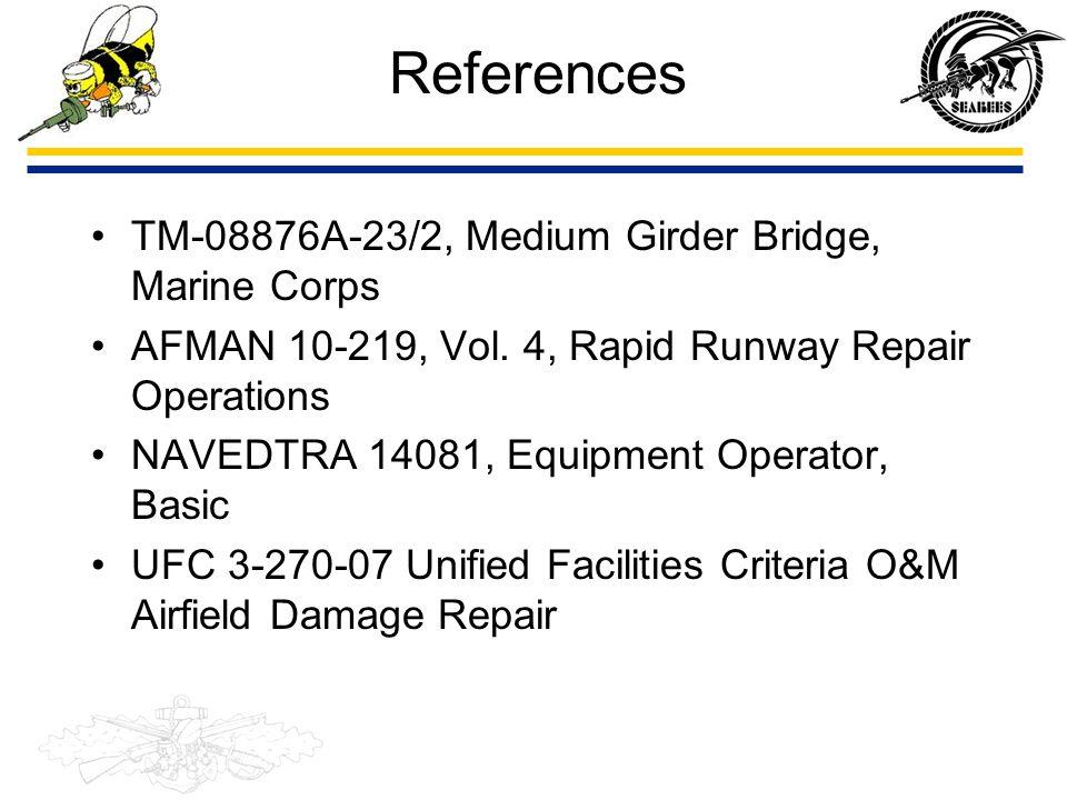 References TM-08876A-23/2, Medium Girder Bridge, Marine Corps