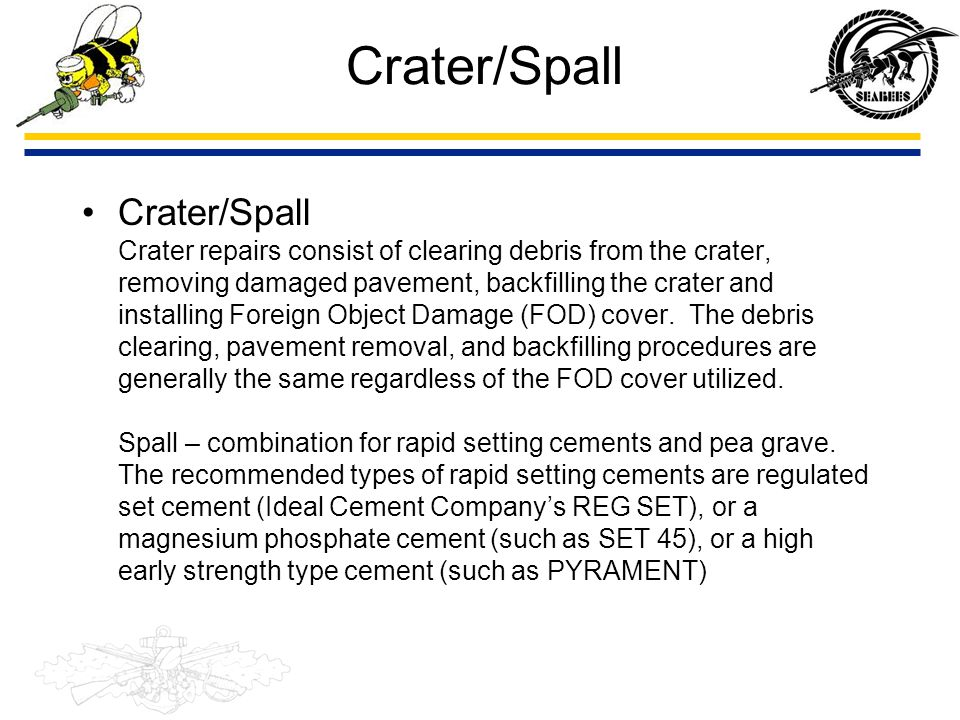 Crater/Spall