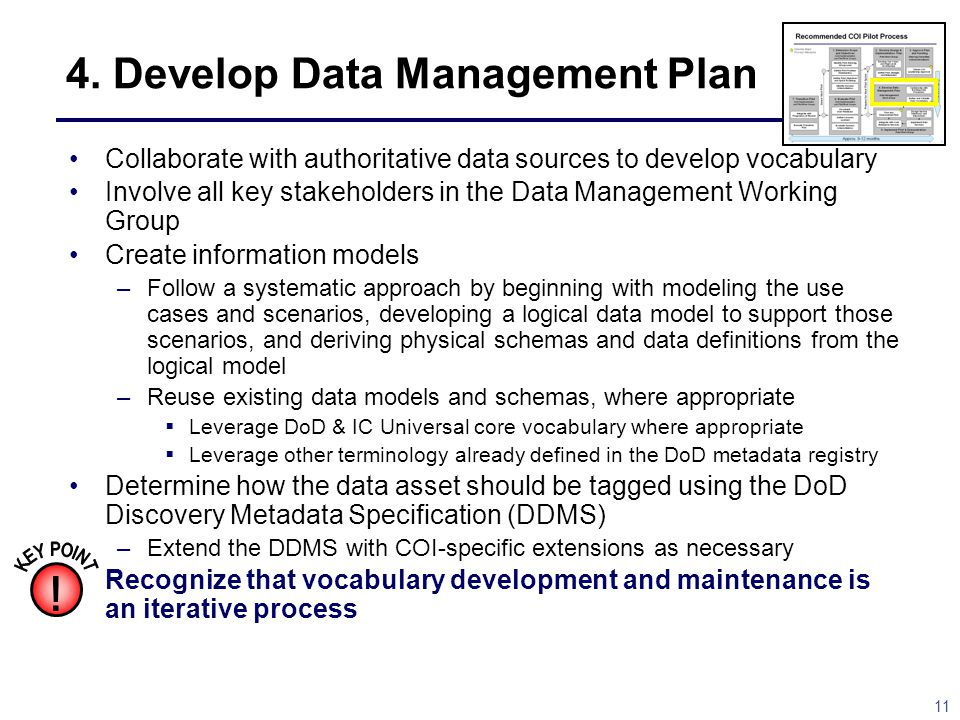 4. Develop Data Management Plan