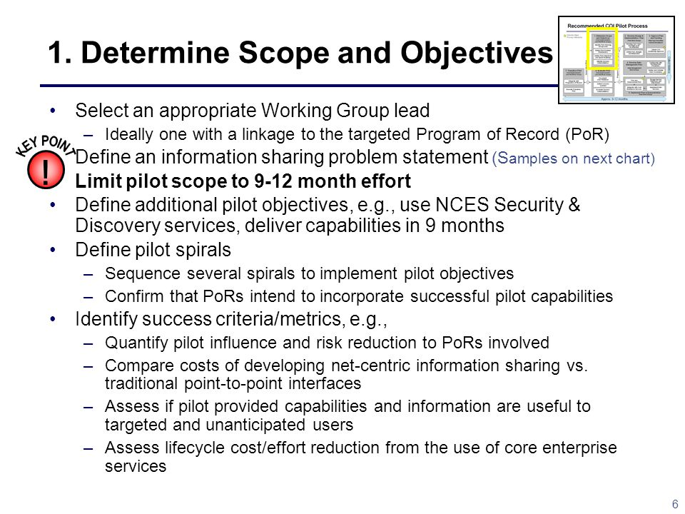 1. Determine Scope and Objectives