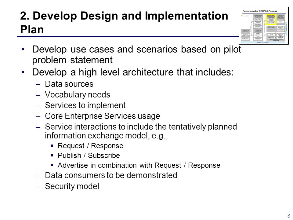 2. Develop Design and Implementation Plan