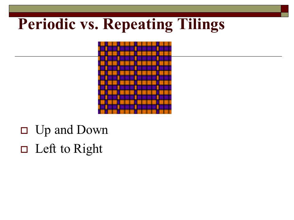 Periodic vs. Repeating Tilings