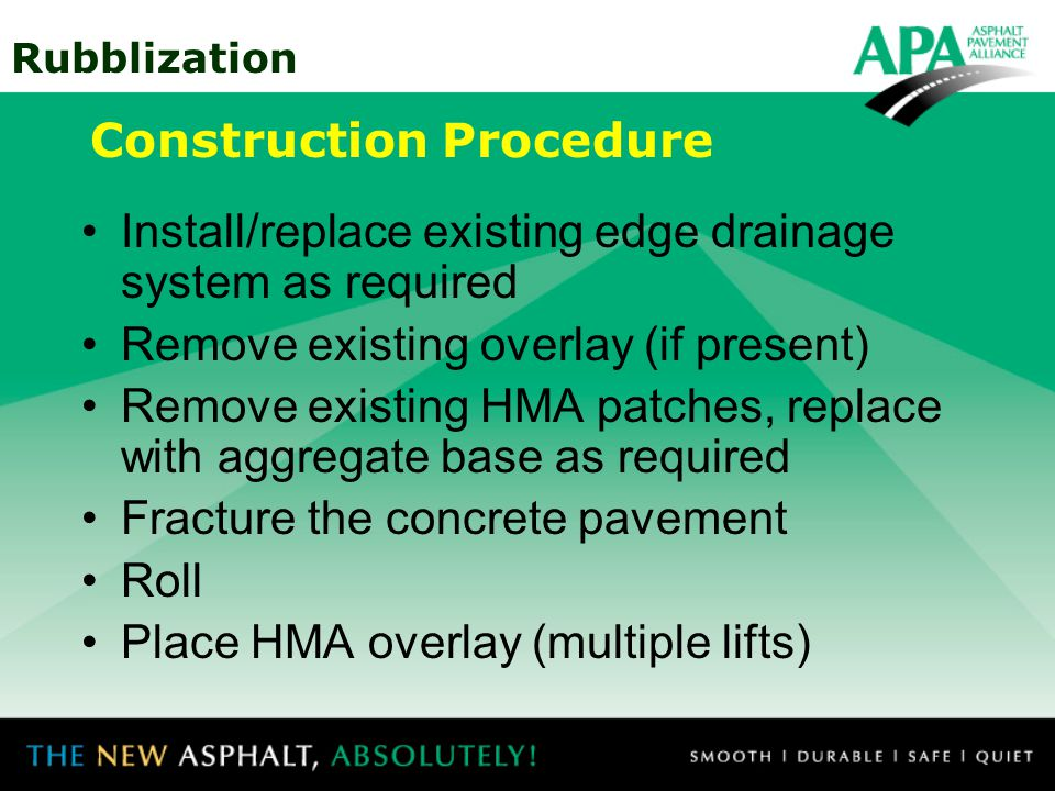 Construction Procedure
