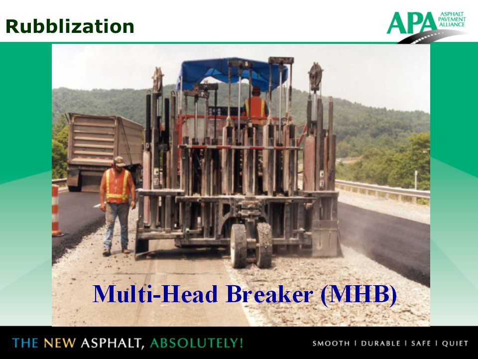 The multi-head breaker (MHB) has a number of hammers mounted laterally in pairs.