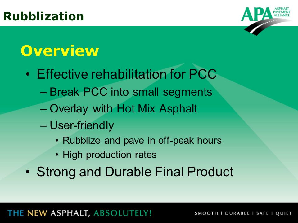 Overview Effective rehabilitation for PCC