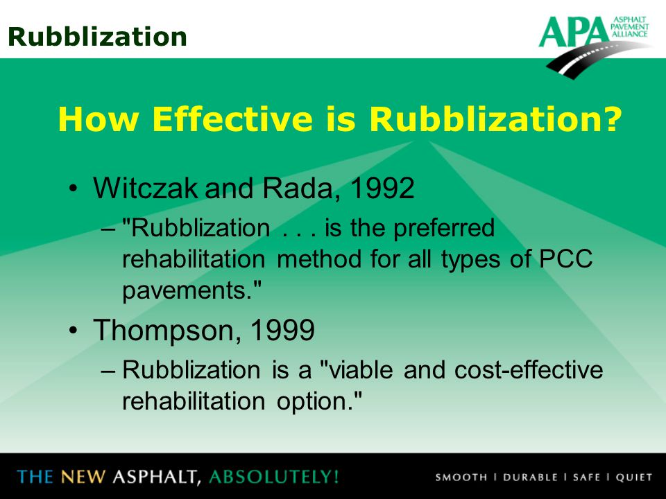 How Effective is Rubblization