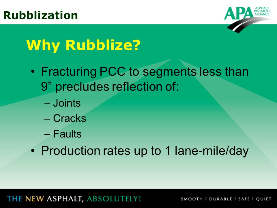 Why Rubblize Fracturing PCC to segments less than 9 precludes reflection of: Joints. Cracks. Faults.