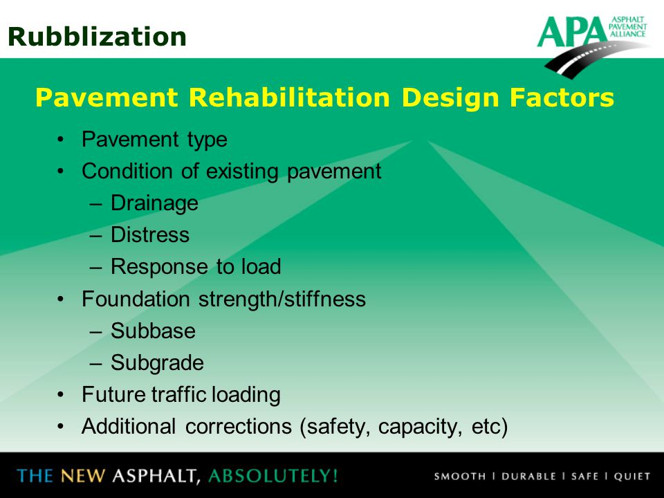 Pavement Rehabilitation Design Factors