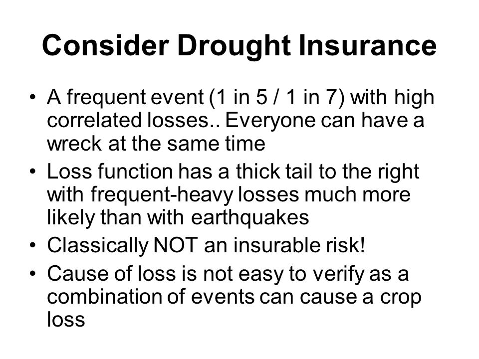 Consider Drought Insurance