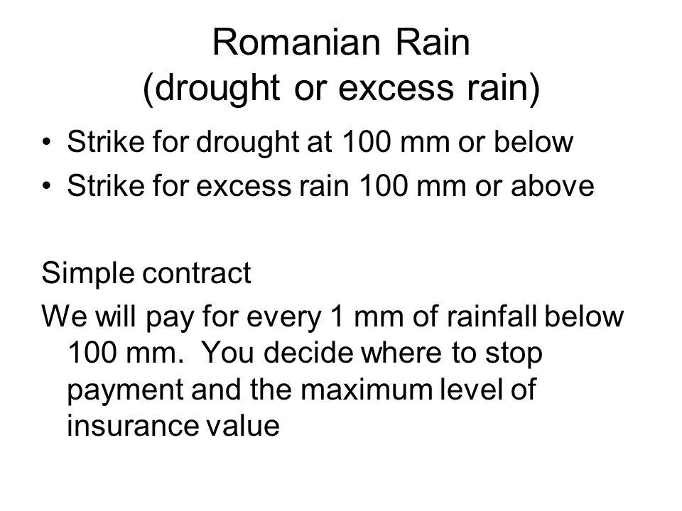 Romanian Rain (drought or excess rain)