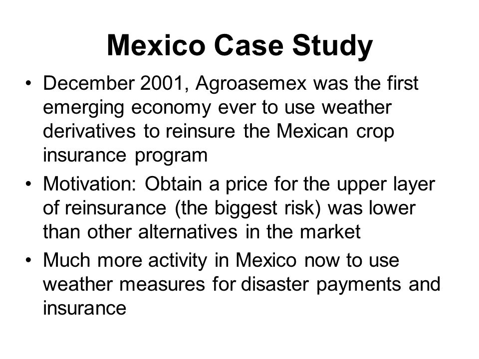 Mexico Case Study