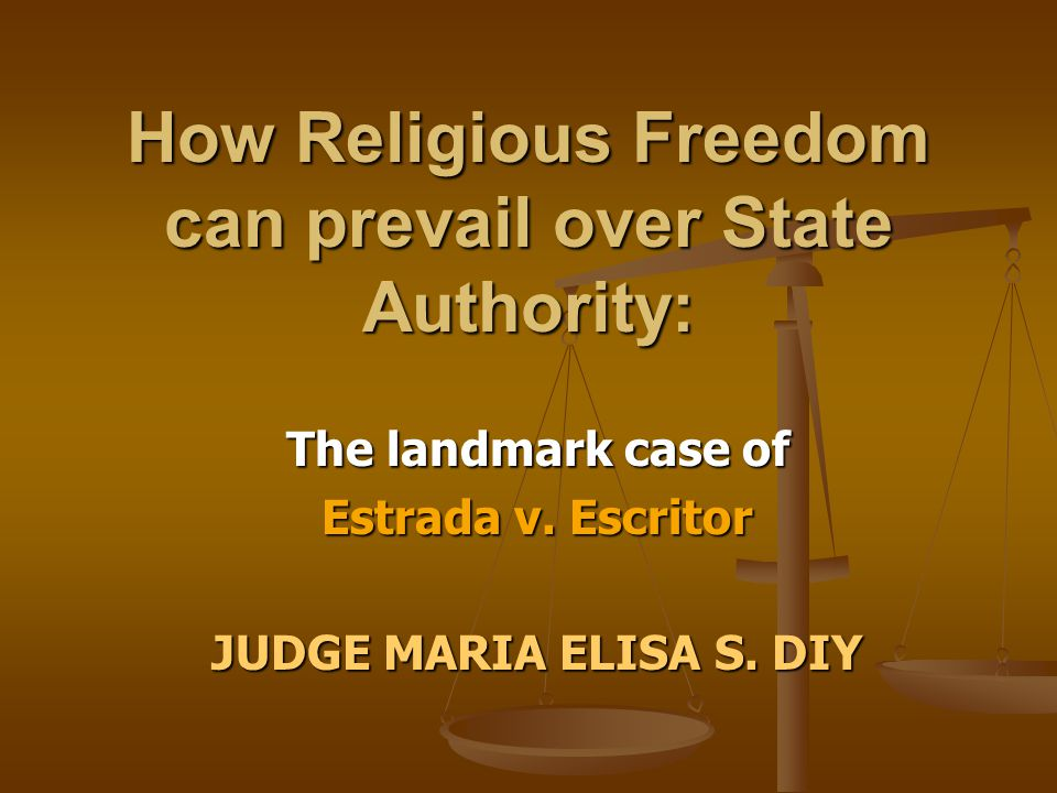 How Religious Freedom can prevail over State Authority: