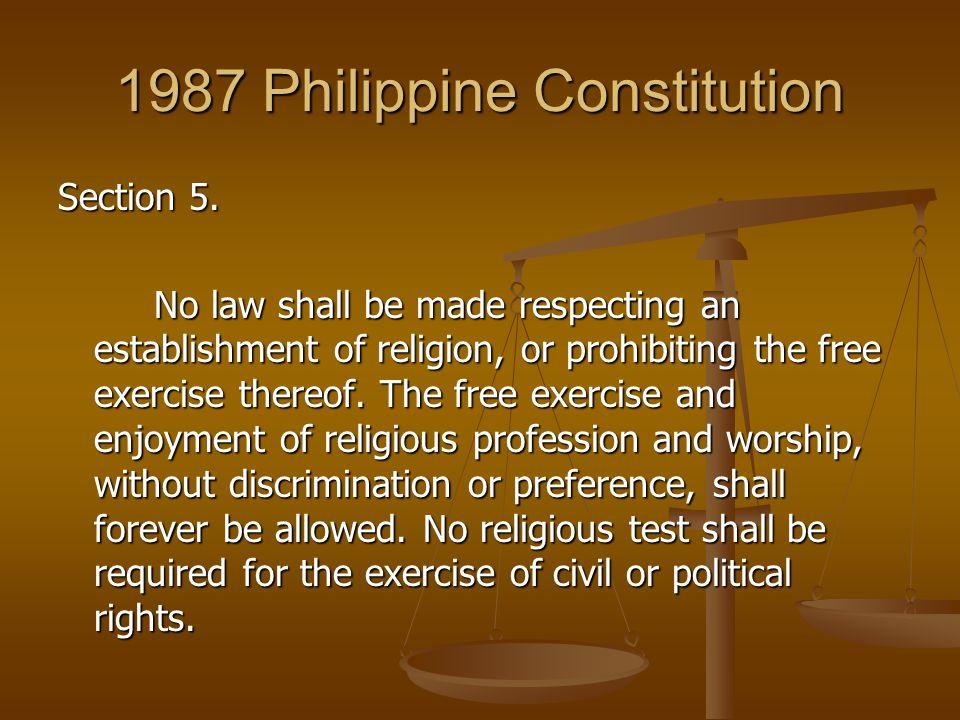 1987 Philippine Constitution