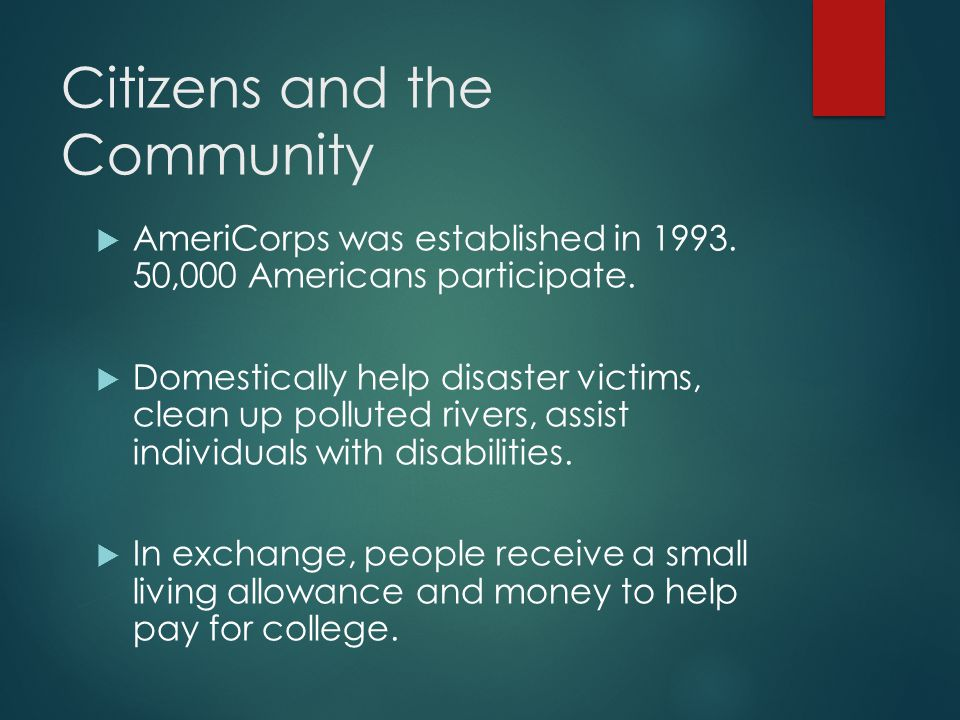 Citizens and the Community