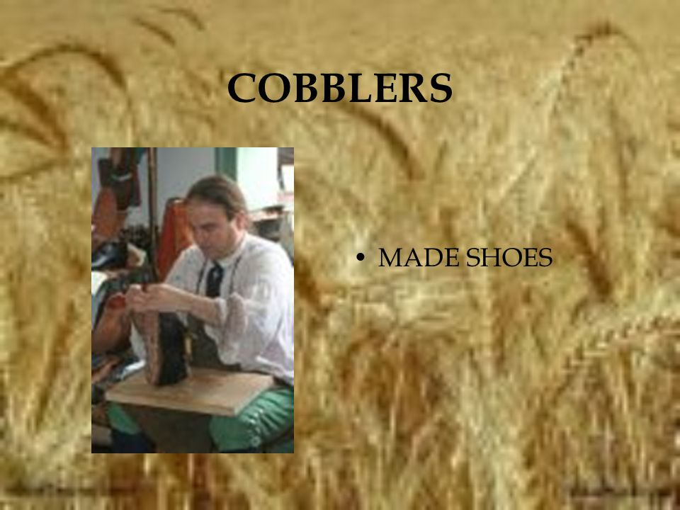 COBBLERS MADE SHOES