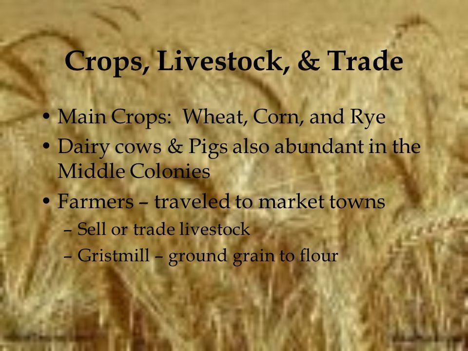 Crops, Livestock, & Trade