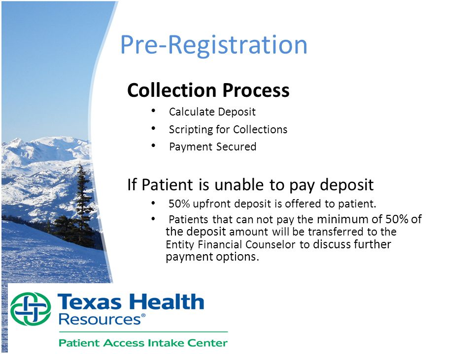 Pre-Registration Collection Process