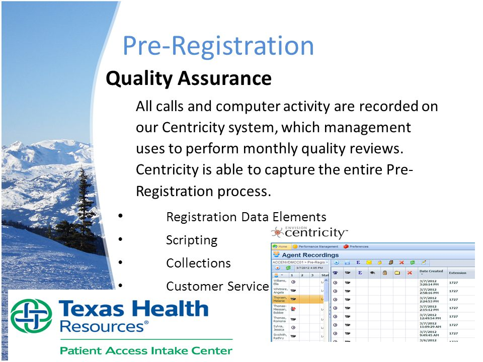 Pre-Registration Quality Assurance