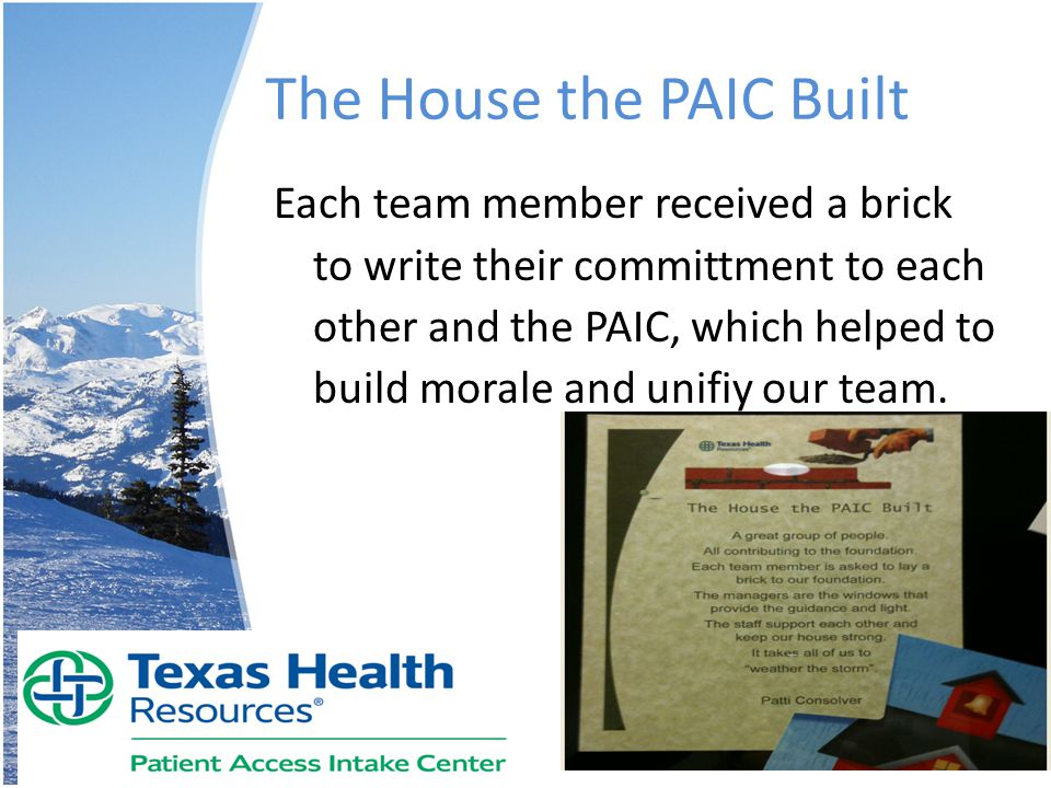 The House the PAIC Built