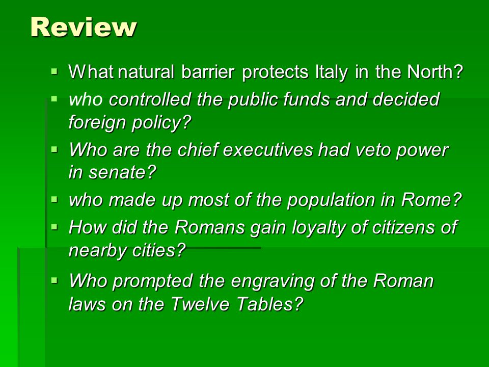 Review What natural barrier protects Italy in the North