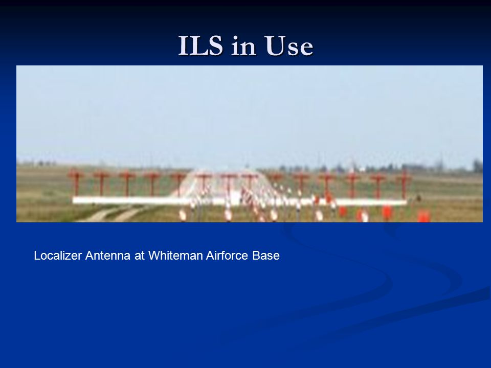 ILS in Use Localizer Antenna at Whiteman Airforce Base