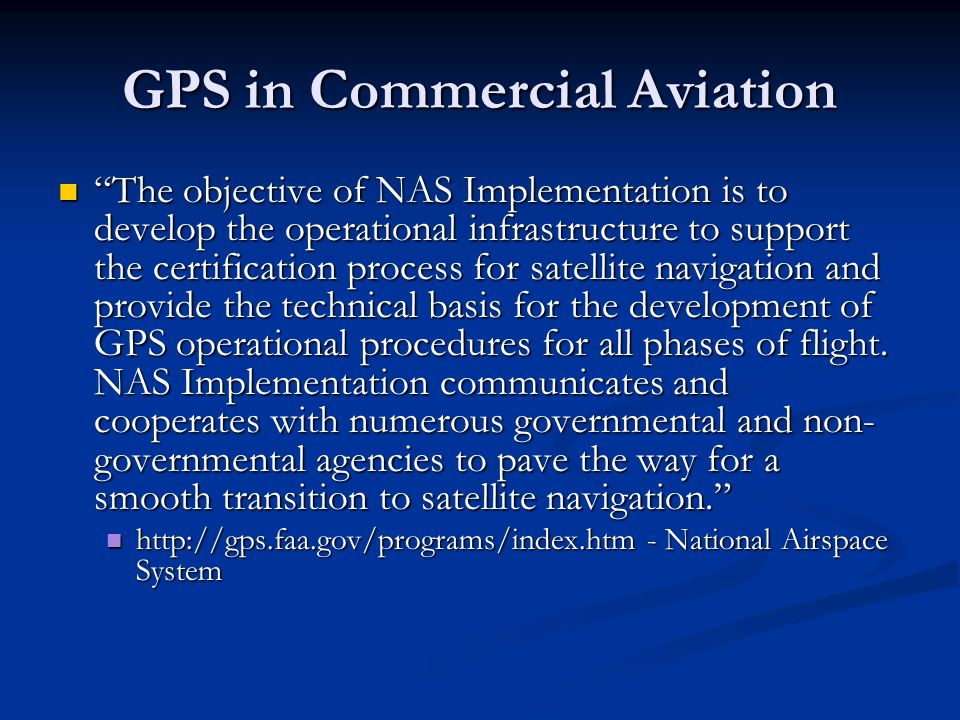GPS in Commercial Aviation