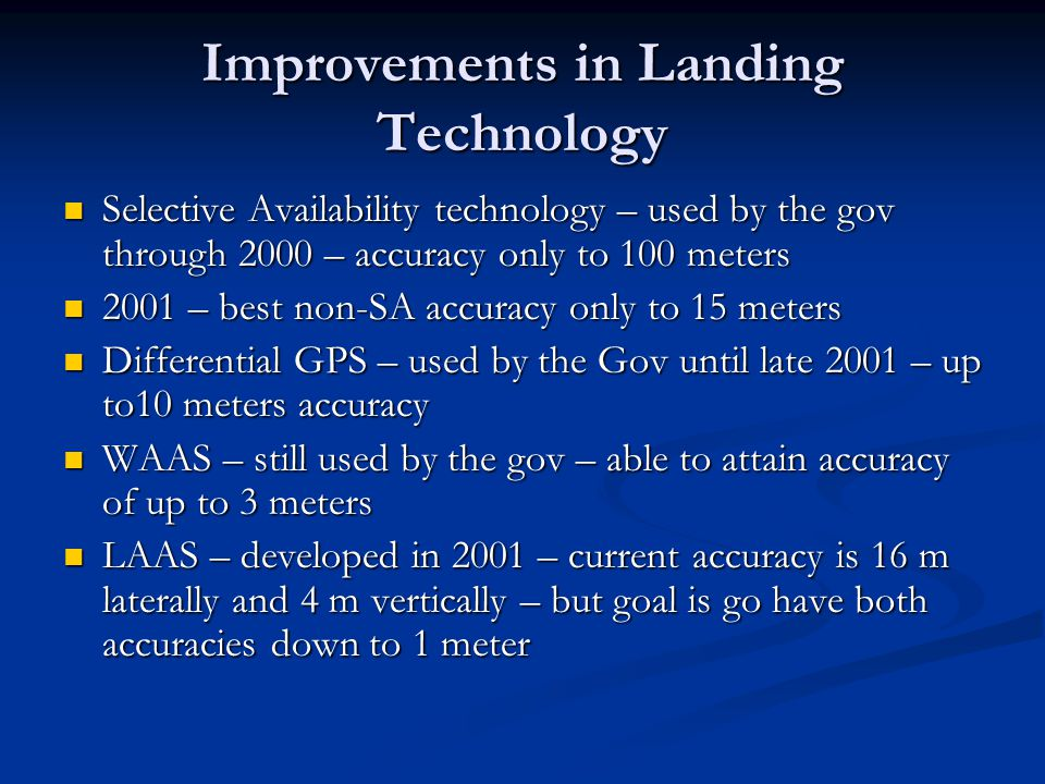 Improvements in Landing Technology