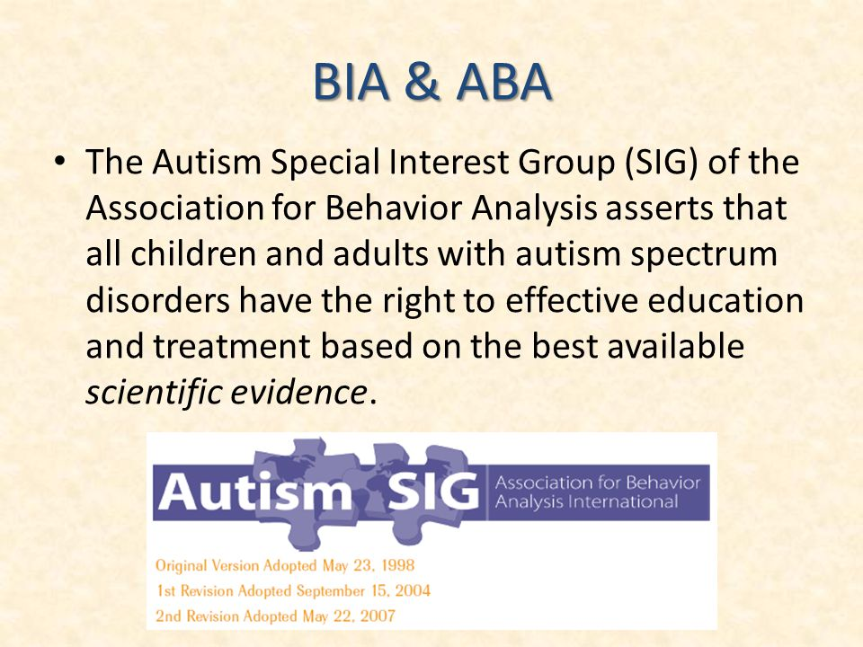 BIA & ABA