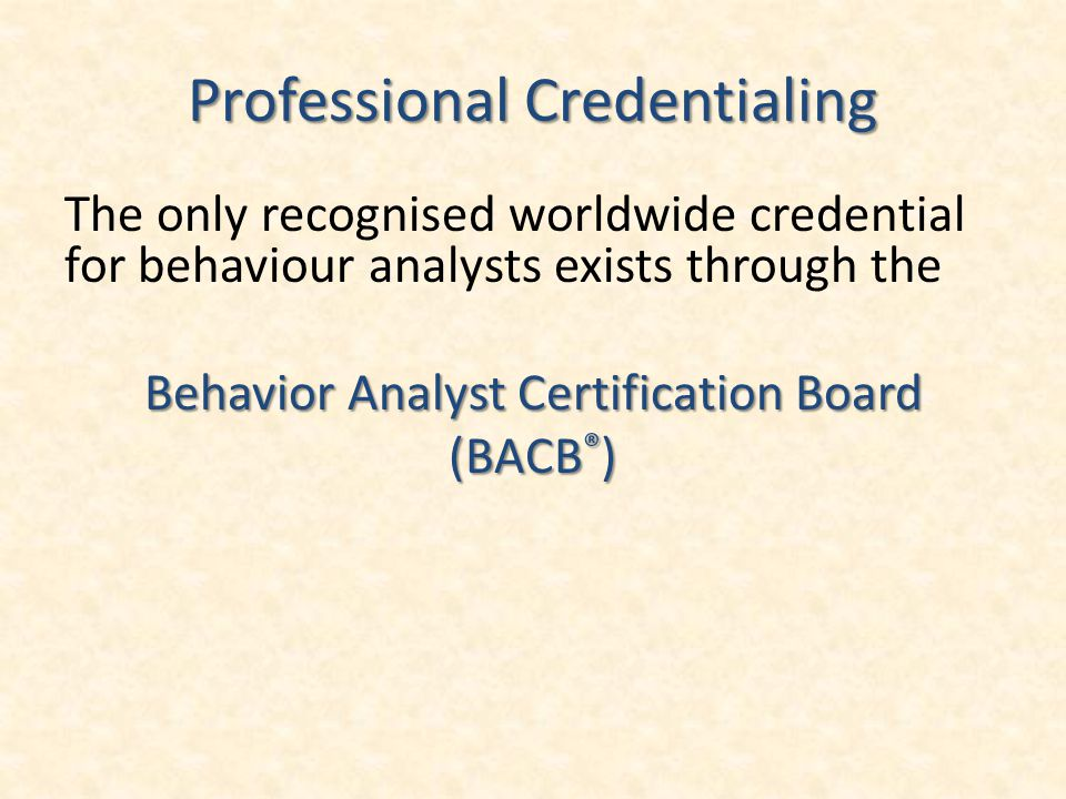 Professional Credentialing