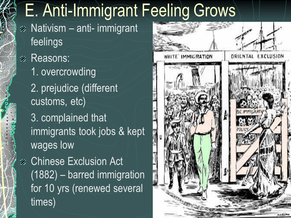 E. Anti-Immigrant Feeling Grows