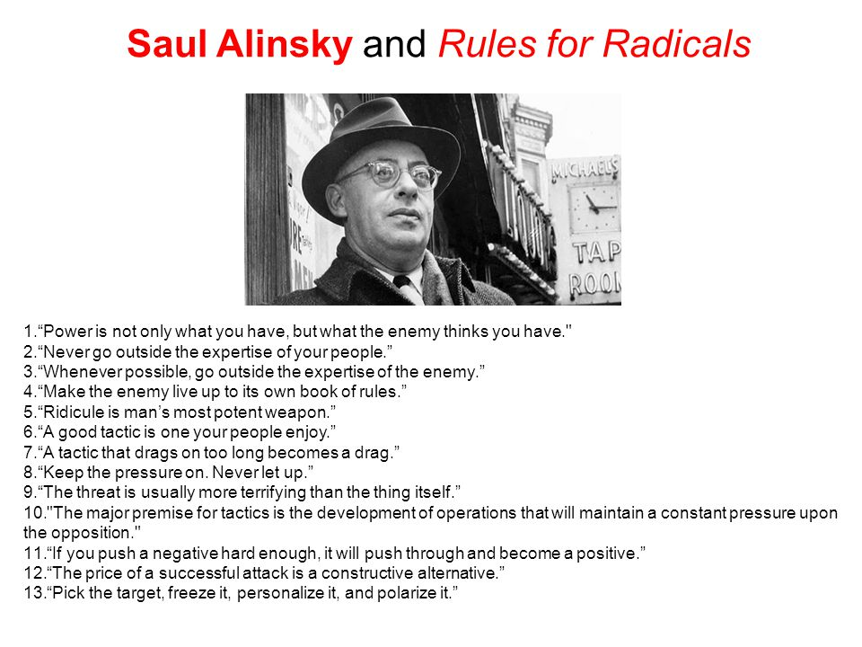 Saul Alinsky and Rules for Radicals
